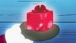Santa presents the magical gift