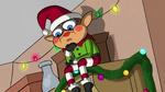 Creepy elf on shelf