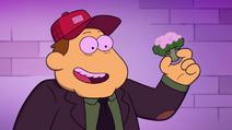 Bill offers Cricket some broccoli