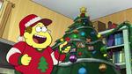 Bill lights the tree