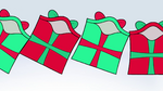 Presents tumbling over