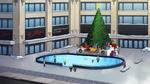 Christmas tree and ice rink