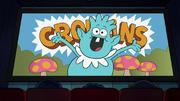 Croblin appears in feature presentation logo