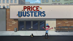 Louis outside Price Busters
