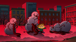Snowmen with tinselstring guts