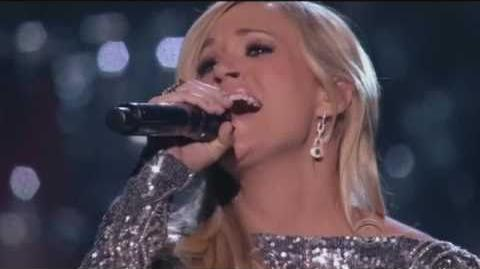 Carrie Underwood with Vince Gill How Great thou Art - 720P HD - Standing Ovation!