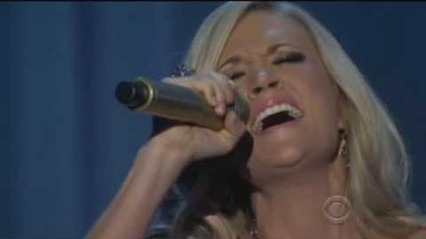 Carrie Underwood Live performance of Temporary Home - ACM 2010