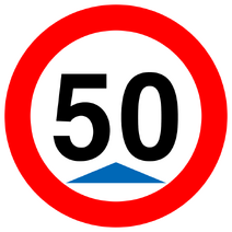 Sign speedminimum 50