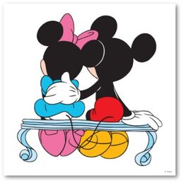 Mickey and minnie mouse valentines day on bench poster-p228409276334548395trma 400