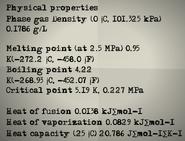 Physical Properties Helium