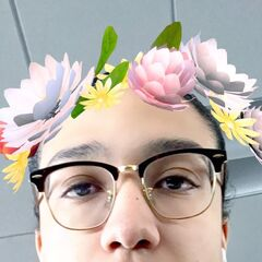 Jakob with a flower crown