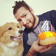 James celebrating Ein's 4th birthday