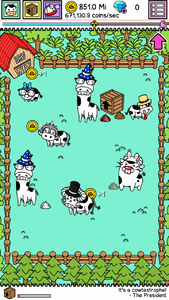 Farm cows with hats