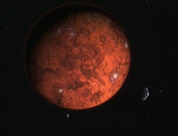 Mars with moons