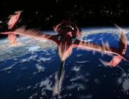 Swordfish entering Earth's atmosphere