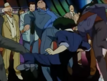 Spike beats up some guys