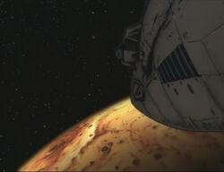 Bebop above Io