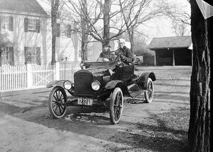 Ford Model T with 1917 plates