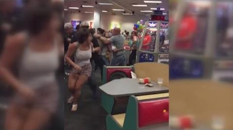 Violent Brawl Breaks Out Between Grown Ups at Chuck E