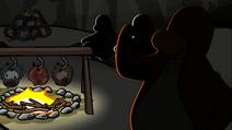 Puffles getting eaten