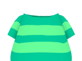 Aqua Striped Shirt