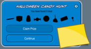 Halloween candy hunt uncompleted