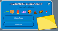 Halloween candy hunt completed