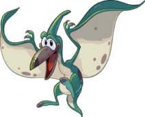 Flying Aqua Pteranodon from CP