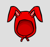 Red bunny ears