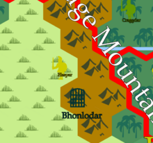 Siege of Bhonlodar Map