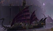 Dark elf ship