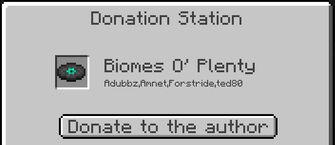 Donation station interface