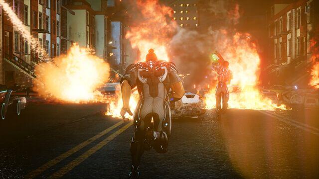 Image Crackdown 3 Cars On Fire Jpg Crackdown Wiki Fandom
