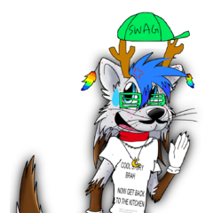 Tito wearing Trevor's clothes (inside joke because on Trevor's page on another wiki, it says