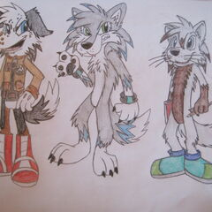 Lv6 concept art of Tito alongside Owen and Paws.