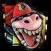 Icône Dingodile pompier NF