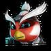 Icône Penta ninja fauvette rouge NF