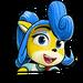Icône Coco bleue NF
