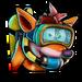 Icône Crash homme-grenouille NF