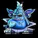 Icône Velo baron bleu NF