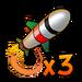 Icône Missile triple NF