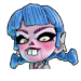 Icône Nina poupée bleue NF
