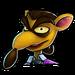 Icône Pinstripe costume violet NF