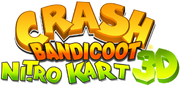 Crash bandicoot nitro kart 3d logo