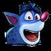 Icône Crash hyène bleue NF