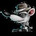 Icône Pinstripe gangster négatif NF