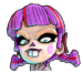 Icône Nina poupée violette NF