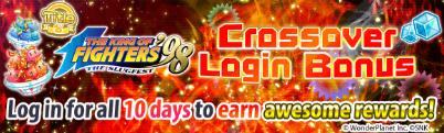 KOF '98 Crossover Login Bonus Banner