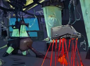 En esta pieza de arte conceptual, vemos Bandicoots que se combinan con los Tiburones