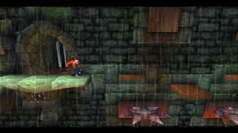 Crash Bandicoot 1, Hidden Unused Level Stormy ascent 100% (gem)